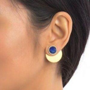 Kate Spade Sunshine Stones EarJackets Blue  NWT